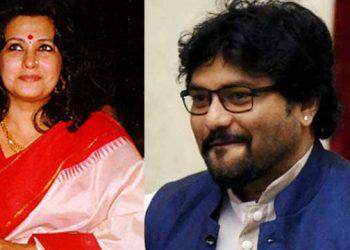 The two contestants from Asansol, Moon Moon Sen (L) and Babul Supriyo