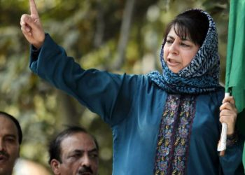 Police sources said the Peoples Democratic Party (PDP) leader was returning after paying obeisance at a dargah in Khiram village when some people stoned the carcade which was on way to Bijbehara town in Anantnag district.