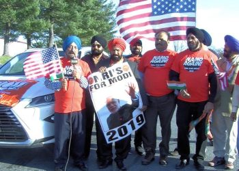 While a group of Indian-Americans organised 'Chowkidar March' in New Jersey, NRIs4Modi group organised a car rally in a Maryland suburb of Washington DC this week. (Image: Twitter)