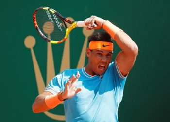 Nadal, chasing a record-extending 12th Monte Carlo title, broke Grigor Dimitrov's serve on four occasions to defeat the Bulgarian 6-4, 6-1.