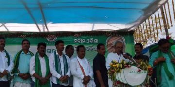 Chief Minister Naveen Patnaik during the election campaign in Balasore