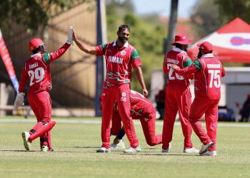 Oman is the only side with three victories from three games in the ICC World Cricket League Division 2 in Windhoek, Namibia. (Image: ICC)
