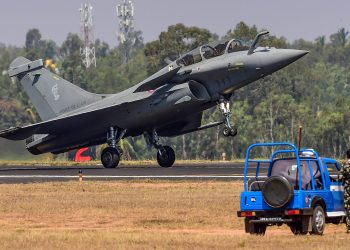 New Delhi: In this file photo dated Feb 20, 2019, JA Rafale fighter aircraft lands during the inauguration of 12th edition of AERO India 2019, in Bengaluru. The Supreme Court on Wednesday April 10, 2019, dismissed preliminary objections raised by the Centre that documents on which it claimed 'privilege' cannot be relied upon to re-examine the verdict in the Rafale fighter jet deal. (PTI Photo/Shailendra Bhojak)