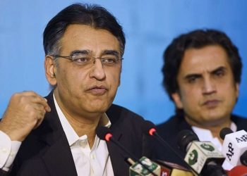 Pakistan's Finance Minister Asad Umar (File photo)