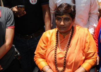 The BJP's Pragya Thakur made headlines again when she said that rubbing a cow from the back to the front relieves blood pressure.