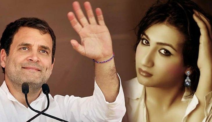 This actress professes her love for Rahul Gandhi