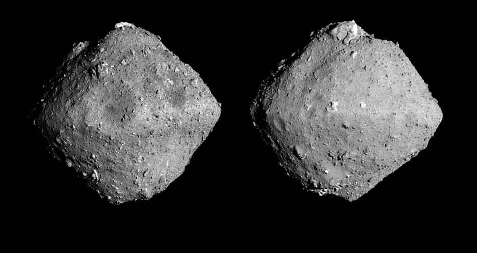 The asteroid, named Ryugu after an undersea palace in a Japanese folktale, is about 300 million kilometers (180 million miles) from Earth.