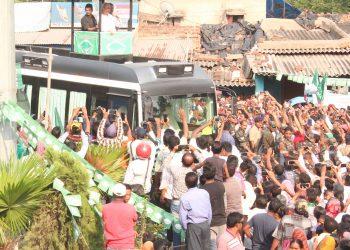 Naveen holds road show in Rourkela
