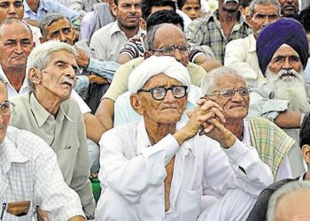 The percentage of the senior citizens in India's population has been growing at an increasing rate in recent years. (Image courtesy: HT)