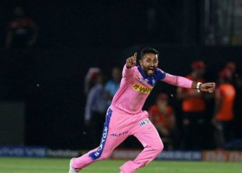 The leg-spinner took 3 wickets for 12 runs in his magical four-over spell, which helped Rajasthan Royals secure their first win of the season. (Image: PTI)