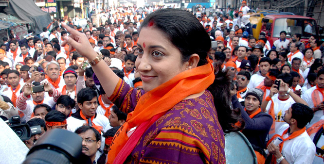 Union Minister and BJP leader Smriti Irani (PTI)