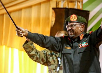 Sudan's Omar al-Bashir, seen here addressing supporters at a Khartoum rally before his ouster and detention by the army last week, ruled the country with an iron fist for three decades (AFP)
