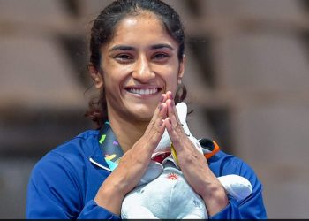 Vinesh has moved up to a higher category from 50kg in which she had won a gold in the Jakarta Asian Games.