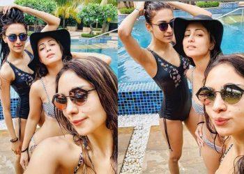 KZK hotties Hina Khan, Pooja Banerjee and Erica Fernandes shared their friendship through their bikini pictures