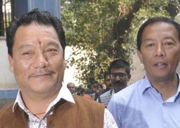 Bimal Gurung (L) and Binay Tamang