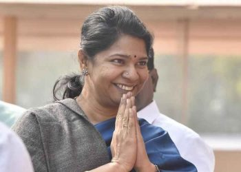 DMK leader Kanimozhi's residence was raided by I-T and EC officials Tuesday night