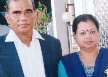 File photo of Somnath Parida with Ushasree