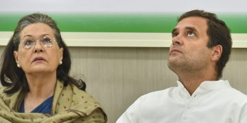 New Delhi: Congress President Rahul Gandhi and former president Sonia Gandhi at the Congress Working Committee (CWC) meeting, in New Delhi, Saturday, May 25, 2019. (PTI Photo/Kamal Kishore)(PTI5_25_2019_000045B)