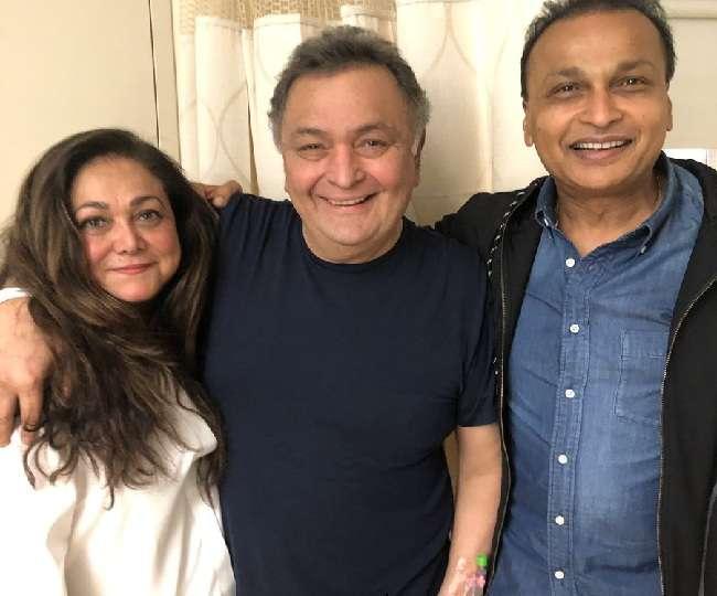 Anil, Tina Ambani meet Rishi Kapoor in NY