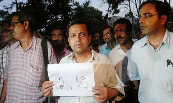 In 2012, Ambikesh Mahapatra, a professor from Kolkata learnt the hard way that sharing TMC or Mamata Banerjee cartoons on social media can land one in jail.