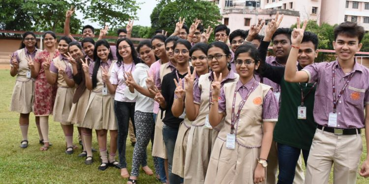 Happy BJEM students pose for a photograph.