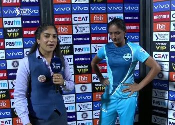 The Supernovas' captain was not happy that her batters gave away their wickets after getting set in the middle. (Image: IPL)