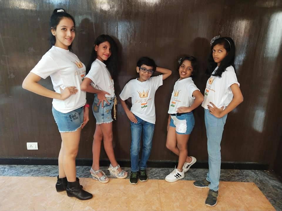 Kids preparing for beauty pageants