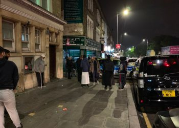 Worshippers at the Seven Kings Mosque in Ilford were part-way through evening prayers late Thursday when the sound of a gunshot rang out.