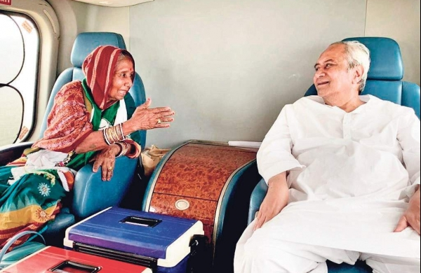 Pramila Bisoi with CM Naveen Patnaik