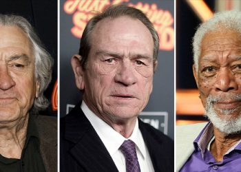 (From left) Robert De Niro, Tommy Lee Jones and Morgan Freeman