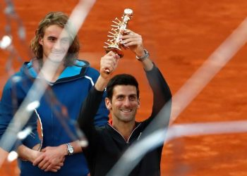The world No.1 took one hour and 32 minutes to defeat the rising Greek star, adding a third championship in the Spanish capital to the trophies he won in 2011 and 2016.