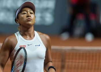 The Japanese star was due to meet Madrid Open champion and sixth seed Kiki Bertens for a place in the final four in Rome.