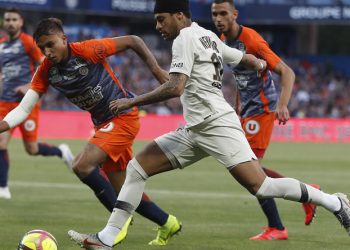 Neymar started in Montpellier, but Mbappe was absent due to suspension.