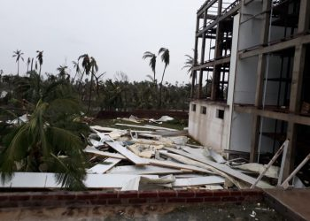 A cold storage in Bhubaneswar ravaged by cyclone