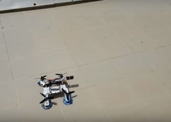 The hybrid FSTAR (flying sprawl-tuned autonomous robot), created by researchers at the Ben-Gurion University of the Negev (BGU) in Israel, can fly over obstacles or run underneath them.