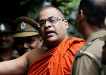 Hardline Buddhist monk Galagodaatte Gnanasara, speaking to reporters Friday, said that two Tamil Nadu Thowheeth Jamaath (TNTJ) men -- Ayub and Abdeen -- visited Sri Lanka.