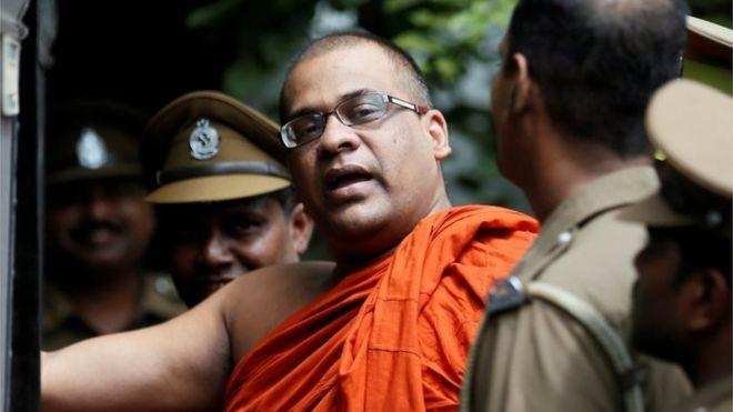 Hardline Buddhist monk Galagodaatte Gnanasara, speaking to reporters Friday, said that two Tamil Nadu Thowheeth Jamaath (TNTJ) men -- Ayub and Abdeen -- visited Sri Lanka.