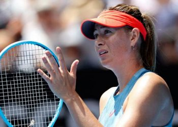 Sharapova has been sidelined since pulling out of the St. Petersburg Open in Russia in January after winning the first-round match.
