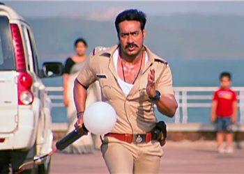 Ajay Devgn in a scene from the film Singham