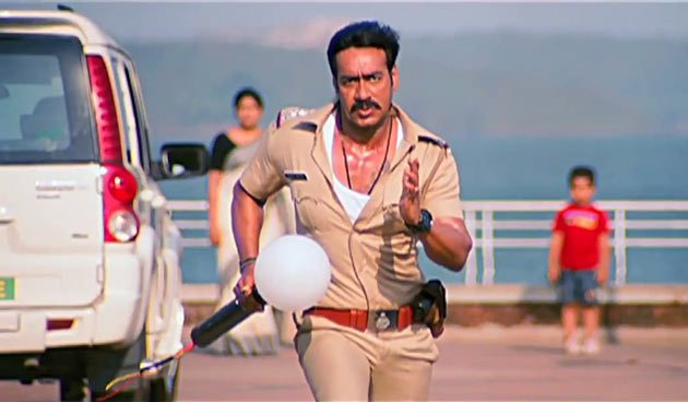 Ajay Devgn in a scene from the film Singham