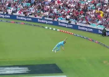 Stokes capped a man-of-the-match display in England's 104-run victory at the Oval with one of the greatest catches in World Cup history.