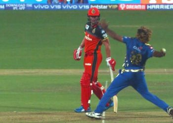 Malinga's no-ball against RCB.