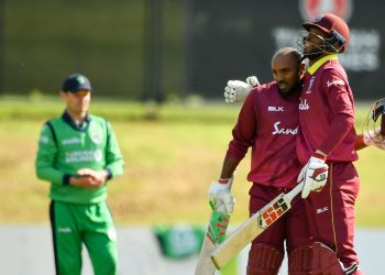 The West Indies, who unlike Ireland have qualified for the upcoming World Cup in England and Wales, were behind the run-rate at 112 for two in the 20th over.