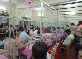Vote counting in progress in Berhampur