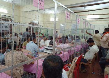 Vote counting in progress in Berhampur