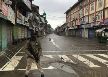 Officials said the curbs on the movement of people were in force in parts of Srinagar, and Kulgam and Pulwama towns.