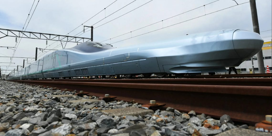 World's fastest bullet train tests in Japan