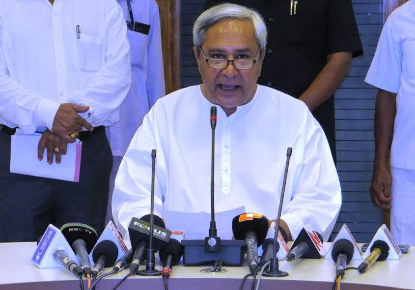 File pic of Chief Minister Naveen Patnaik addressing a state cabinet meet