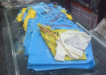 Polythene bags, domestic LPG cylinders seized