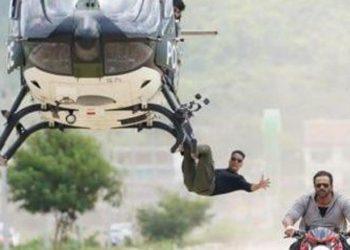 Akshay Kumar does chopper stunt for 'Sooryavanshi'